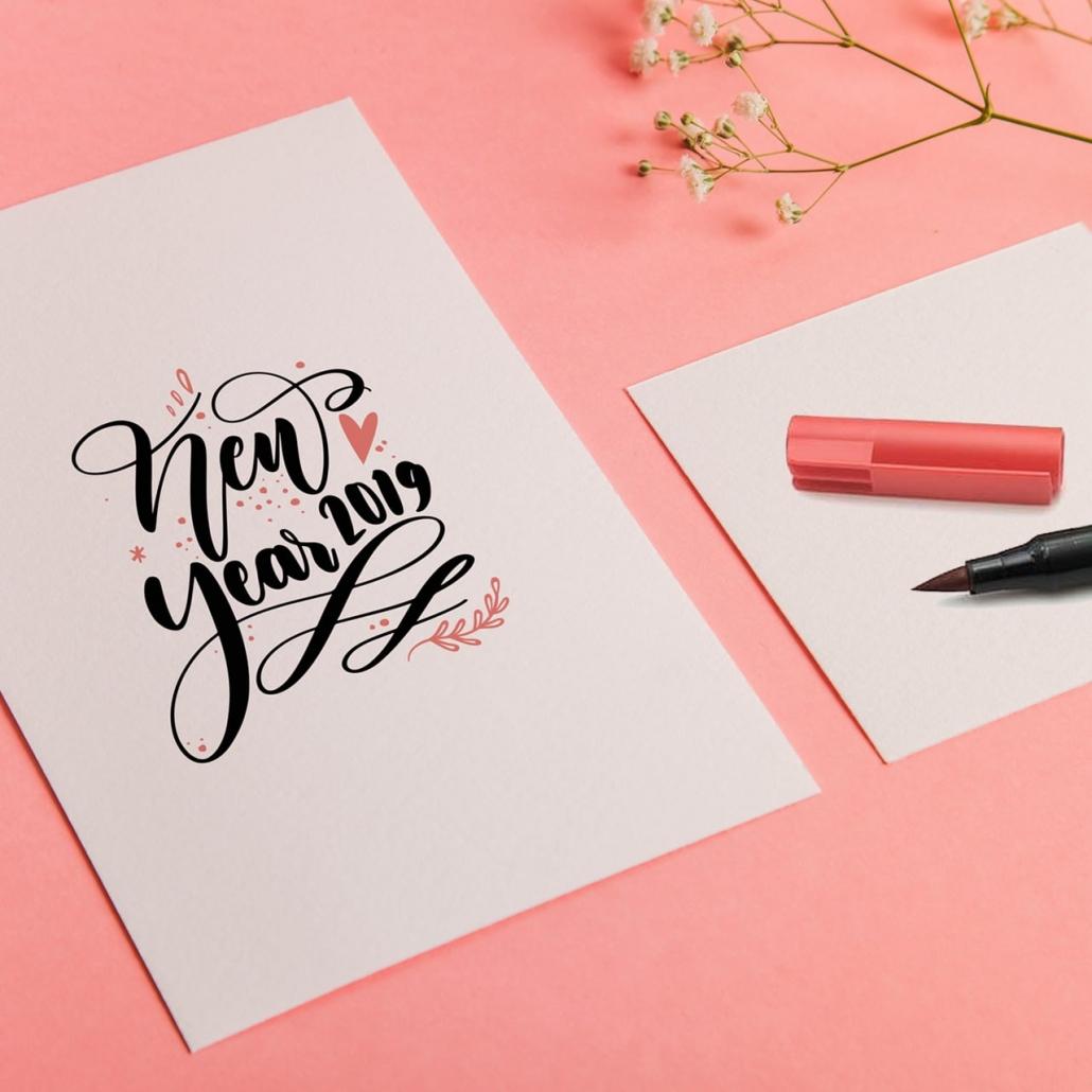 Hand Lettering Carte De Voeux 2019 Actualite