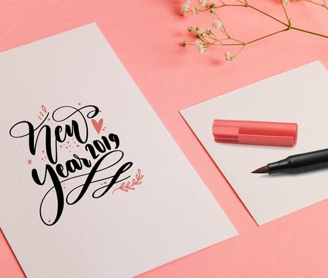 Hand Lettering Carte De Voeux 2019 Galerie