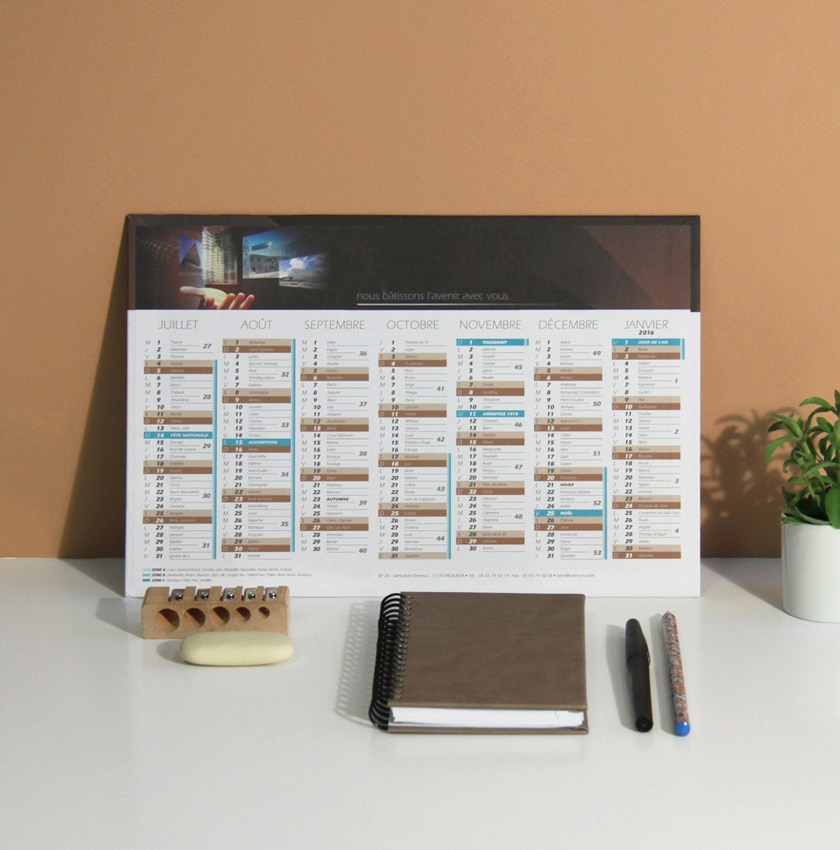 Fabricant Calendrier Personnalise