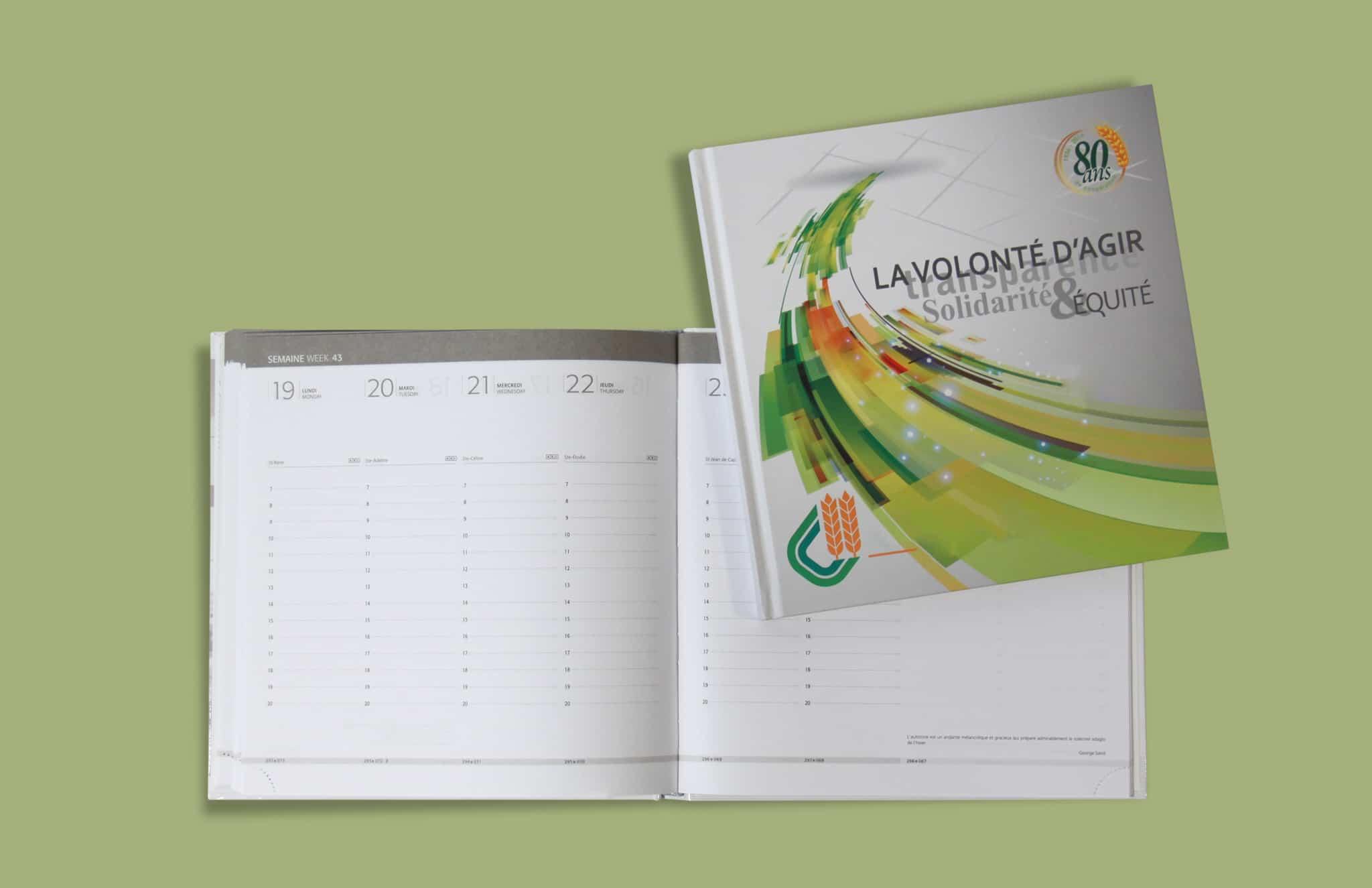 Agenda Bureau V20 Couverture Imprimee Reliure Emboitee