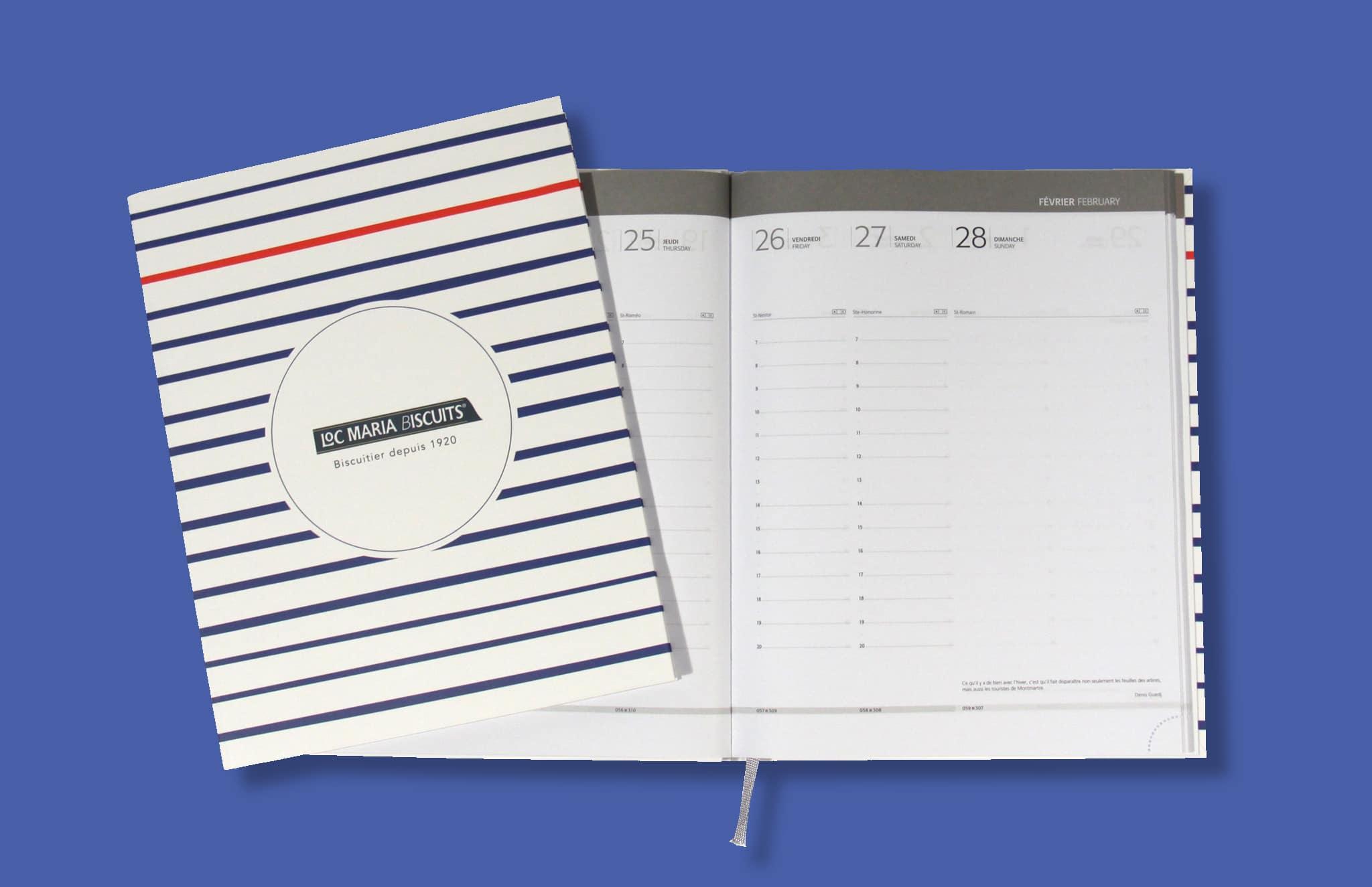 Agenda Bureau V27 Couverture Imprimee Reliure Emboitee