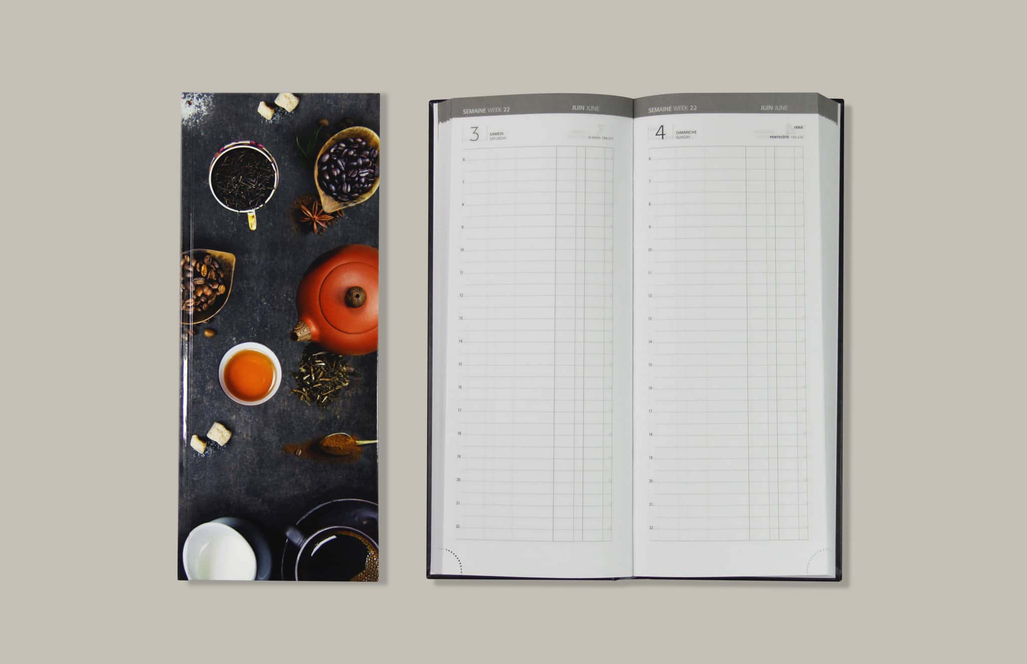 Agenda Long V34 Couverture Imprimee Reliure Emboitee