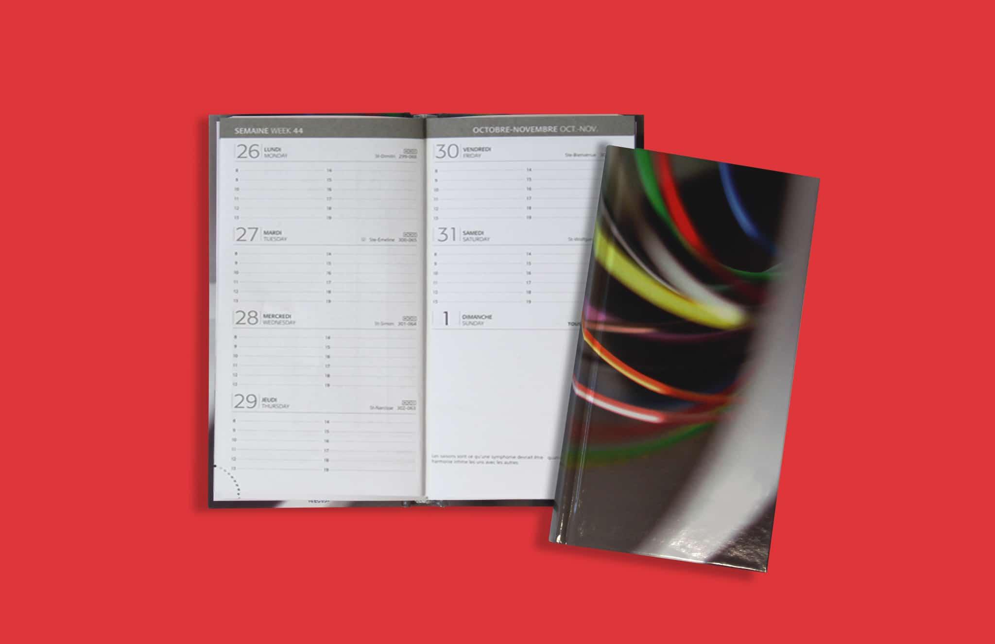 Agenda Poche V18 Couverture Imprimee Reliure Emboitee