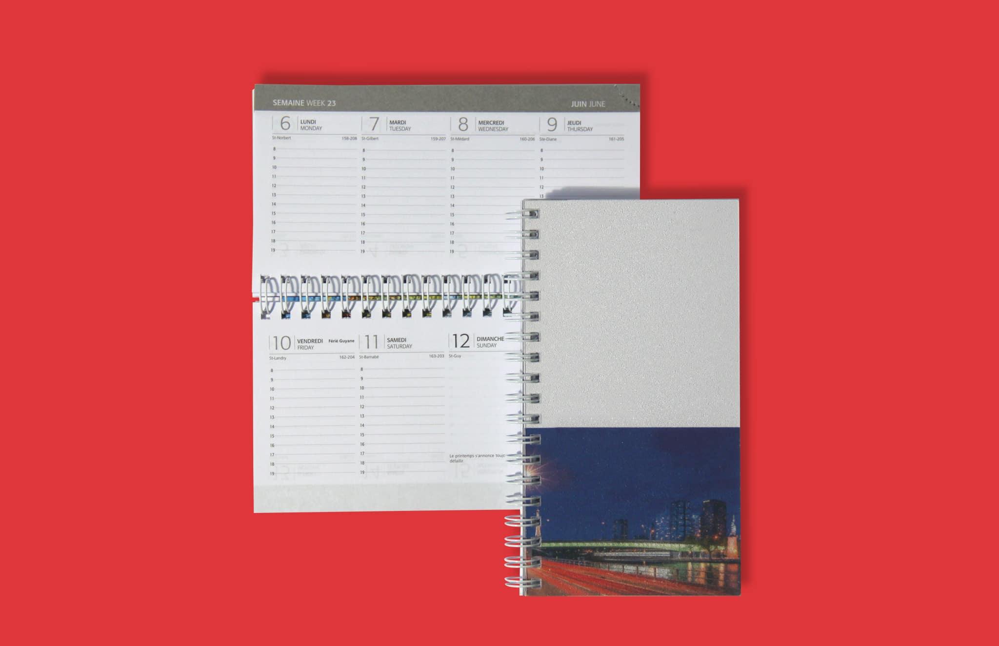 Agenda Poche V18 Couverture Imprimee Reliure Spirale