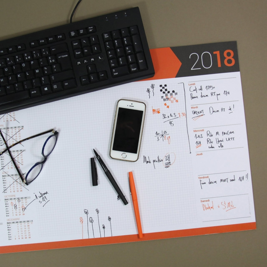 Sous Main Planner Ideal Rentree 2018 Actualite